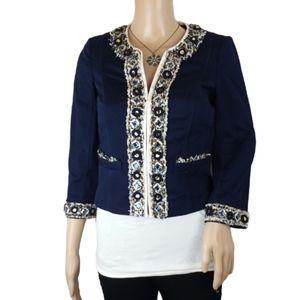 White House Black Market Jewel Embellished Blazer